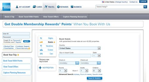 Amex Booking