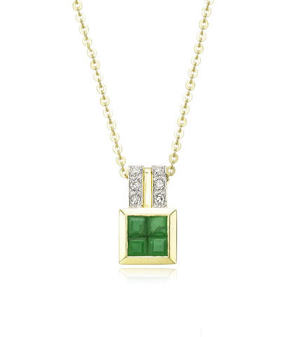 Diamond Emerald Pendant