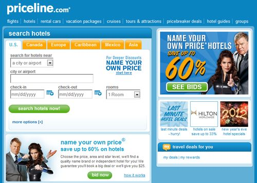 Priceline Booking