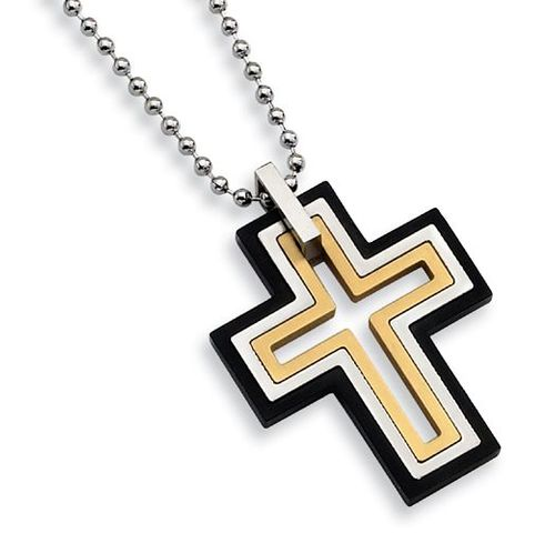 Stainless Steel Moveable Cross Necklace